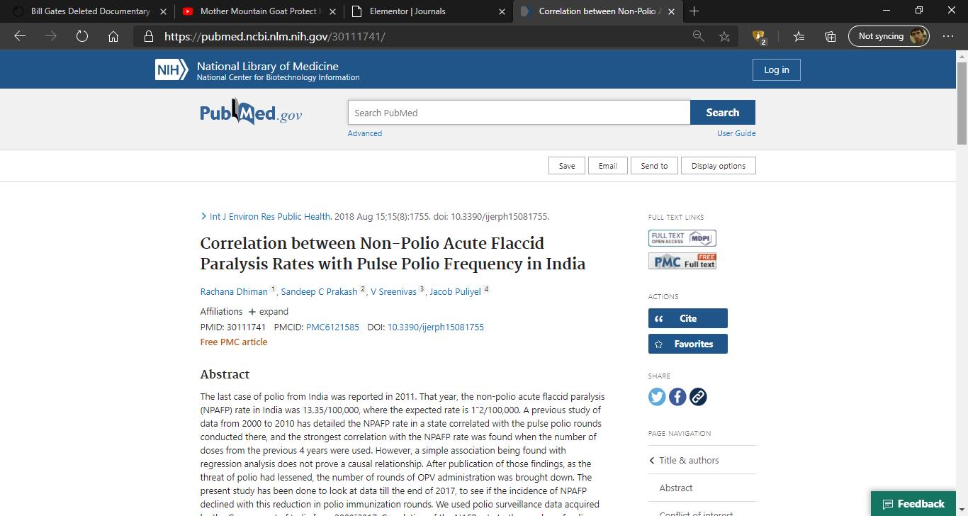 india polio vaccine gates banned dead